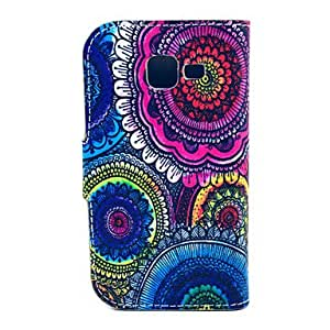 ZL The Kaleidoscope Of Sun Flowers Pattern PU Leather with Case and Card Slot for Galaxy Trend Lite S7390/S7392