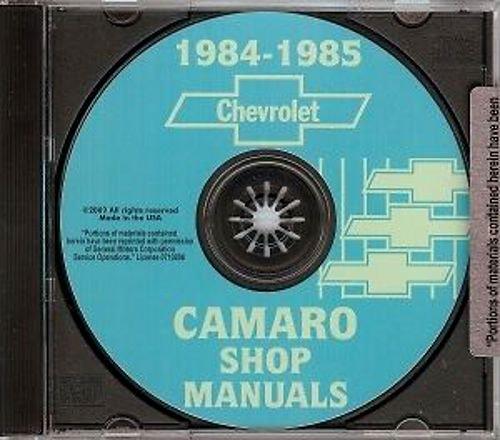 1984 camaro repair manual - 1