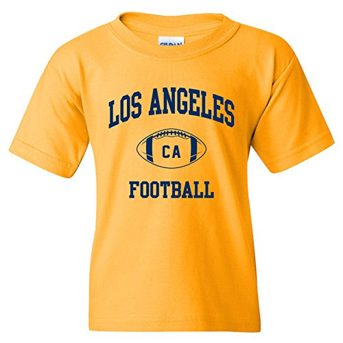 Los Angeles Classic Football Arch American Football Team Sports Youth T Shirt - Small - Gold