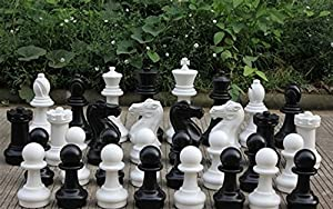 "MegaChess Plastic Chess Set with 16"" King - Pieces Only"
