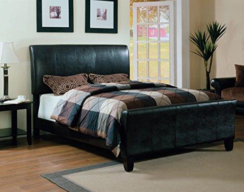 Furniture World Degas Upholstered Sleigh Bed, King, Black