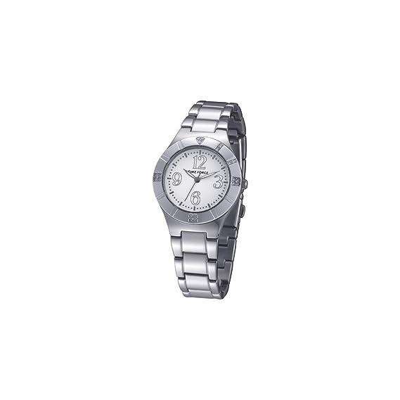TIME FORCE Reloj analogico para Mujer de Cuarzo con Correa en Acero Inoxidable TF-4038L02M: Amazon.es: Relojes