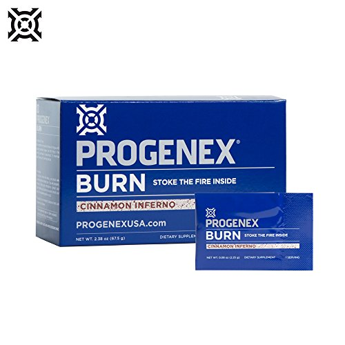 PROGENEX® Burn | Fat Burner & Metabolism Booster | Stimulant-Free Energy for Enhanced Endurance | Sports Performance Supplement for Men and Women | 30 Individual Serving Packets (Cinnamon Inferno)