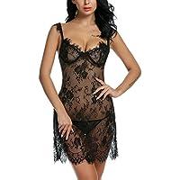 2b68ce14f Avidlove Lingerie Lace Babydoll Set Nightgown Womens V Neck Chemises