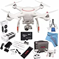 Autel Robotics X-Star Premium Quadcopter with 4K Camera and 3-Axis Gimbal (White) + Autel Robotics 4900 mAh LiPo Flight Battery (White) + 64GB microSDXC + Deluxe Cleaning Kit + Fibercloth Bundle