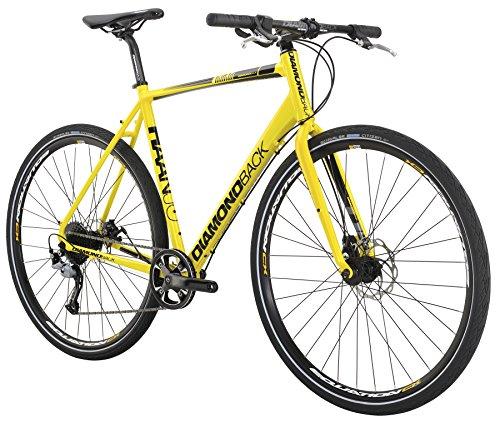 Diamondback Bicycles 2016 Haanjo Metro Complete Commuter Bike, 53cm/Medium, Yellow Diamondback Bikes