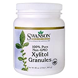 Swanson Pure Non-gmo Xylitol Granules 48 Ounce (3 Lbs) (1,362 G) Granules