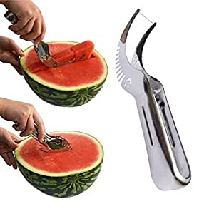 Watermelon Slicer, Kenor Watermelon Knife & Fruit Slicer Fastest Cutter Multi-purpose Stainless Steel, Smart Kitchen Gadget & Perfect Gift