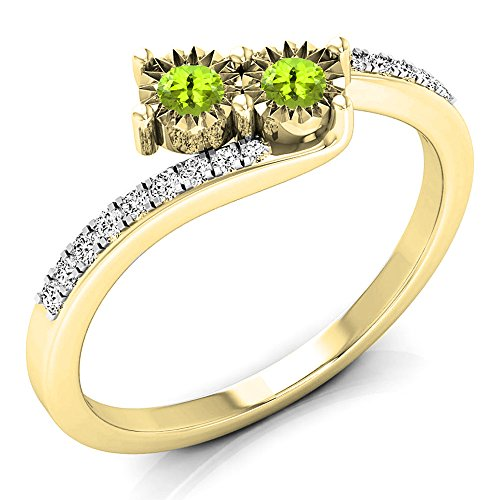 0.25 Ct Peridot Ring - 9