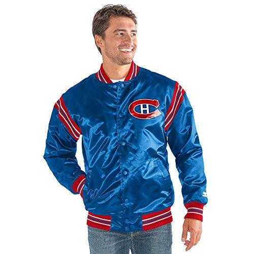 STARTER NHL Montreal Canadiens Men's The Enforcer Retro Satin Jacket, 5X, Blue