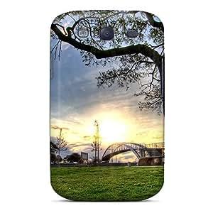 Waterdrop Snap-on Pedestrian Bridge In A Park Case For Galaxy S3