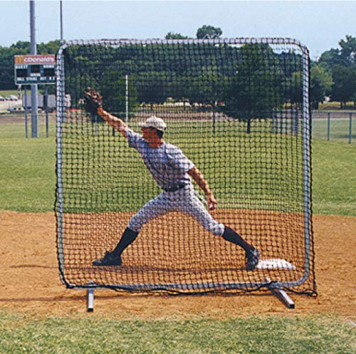 Fungo Screen - TAG TBPN600 Baseball Protective Screen, 7 ft x 7 ft - Ideal for Base and Fungo Protection