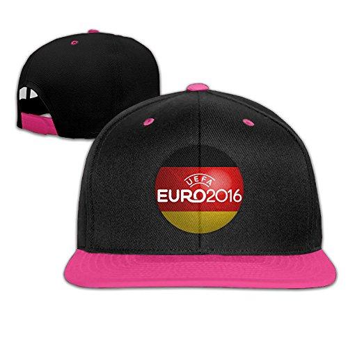 ZOENA 2016 Germany Flag Football Poster Hip-Hop Cotton Hats Jogging Caps Hats Pink ()