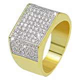 JINAO 18k Gold Plated Hip Hop ICED Out Square Bling Ring (7)