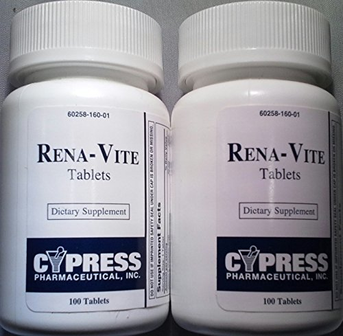 [2 Pack] Rena-vite® Renal Dietary Supplement 100 Ct. (Pack of 2 Bottles) *Compare to Nephrovite® & Nephrocaps® &* For Sale