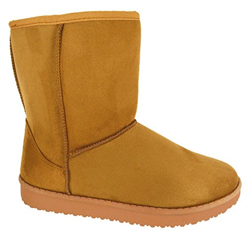 Camel Boots Fur Snugg Faux Winter Warm Ladies 8 EYESONTOES Lined Ankle Shoes Womens 3 Hug Size qPXTZI8w