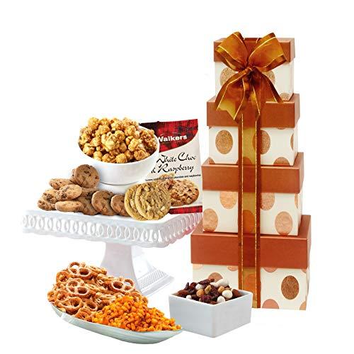 Broadway Basketeers Gourmet Gift Tower – Gift Basket