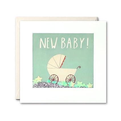 James Ellis Shakies - Tarjeta de felicitación, diseño de carrito de bebé y texto