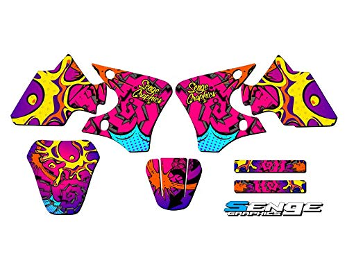 Senge Graphics 2000-2008 Yamaha TTR 90, Zany Pink Base Graphics Kit Senge Graphics Inc.