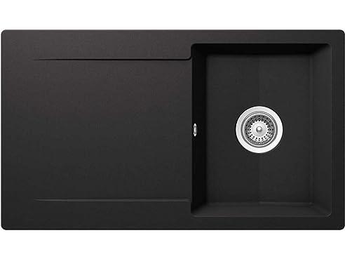 Schock Epure D-100 A Nero Granit-Spüle Schwarz Auflage Küchenspüle ...