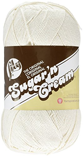 Lily Sugar 'N Cream Big Ball Solid Yarn, 14 Ounce, Off White, Single Ball (Sugar N Yarn)