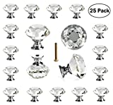#2: 25 pcs Crystal Glass Knobs Drawer Pulls for Kitchen Bathroom Cabinet, Dresser and Cupboard by DeElf