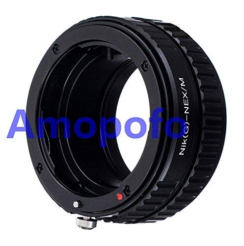 Amopofo Nikon F AF-S G Lens to Sony E NEX Adapter Macro Focusing Helicoid 3N 5T A7 A6300 -  N/G-NEX/M