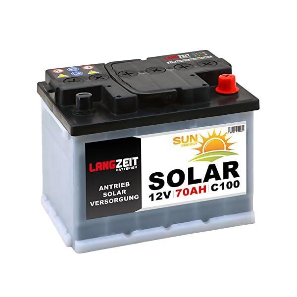 51gHn9QPa4L Solarbatterie 70Ah 12V Wohnmobil Boot Camping Schiff Rollstuhl REHA Batterie Solar 60Ah (70AH 12V)