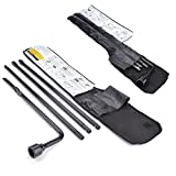 SAILNOVO Spare Tire Tool Kit For 2000-2014 Chevy GMC Silverado Sierra Tahoe Yukon Cadillac,4 Pieces Tire Iron Lug Wrench Change Replacement Tool Kit With Carry Case