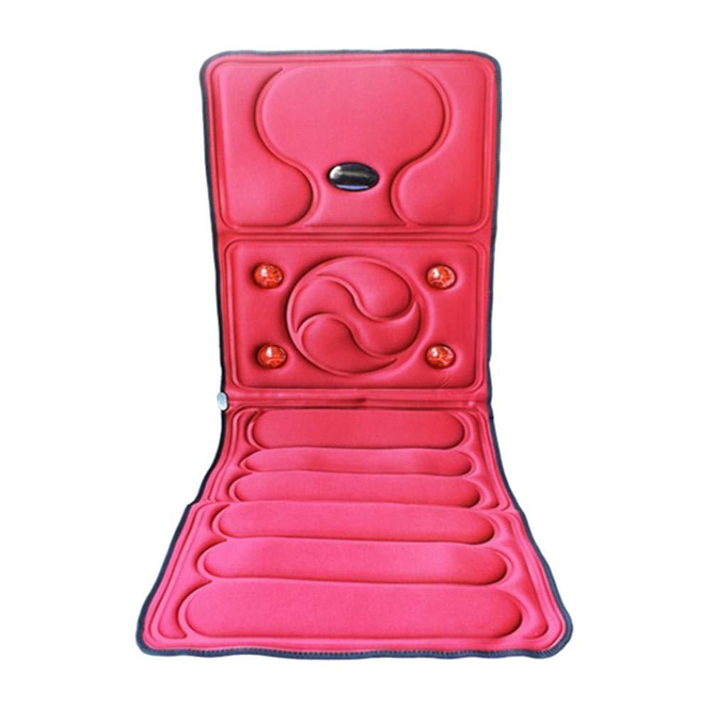 多機能赤外線理学療法マッサージパッド電気温熱マッサージパッド本体振動マッサージマットレス健康マッサージ機器,Red B07RQCVTSM Red