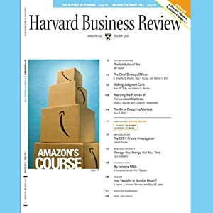 Harvard Business Review, October 2007 Audiomagazin