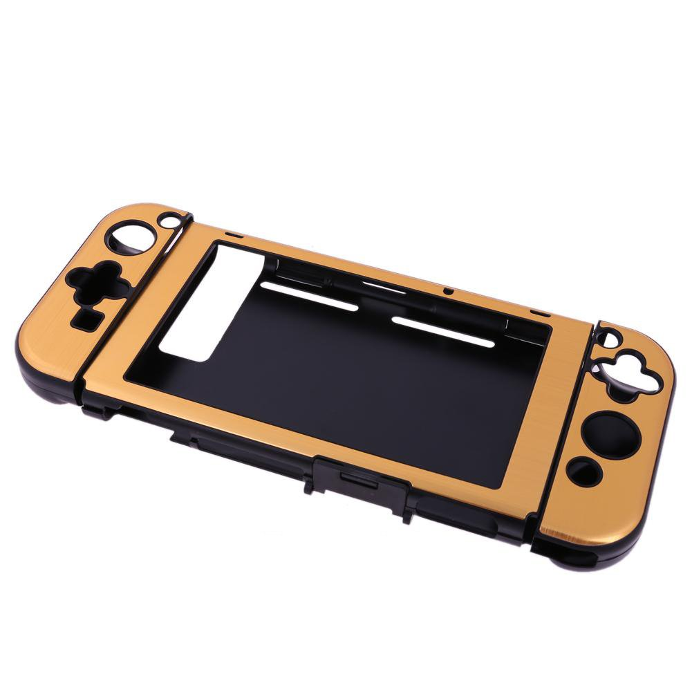 Szjay Aluminum+Plastic Anti-scratch Dustproof Hard Back Protective Case Cover Shells for Nintendo Switch NS Console with Joy-Con Controller (Gold)