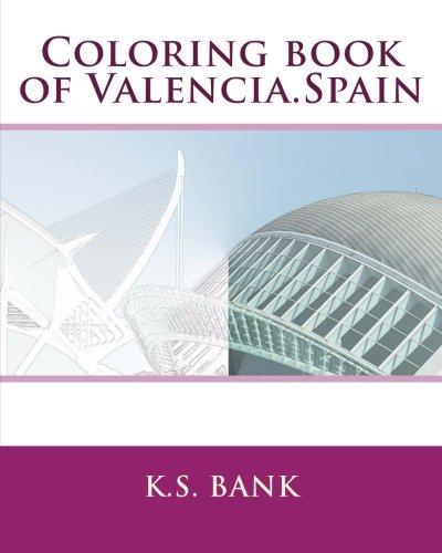 Coloring book of Valencia.Spain