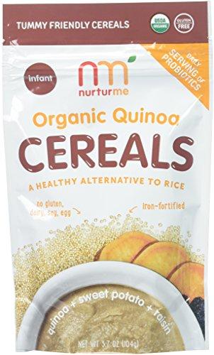 NurturMe Organic Infant Cereals, Quinoa + Sweet Potato + Raisin, 3.7 Ounce (6 Pack)
