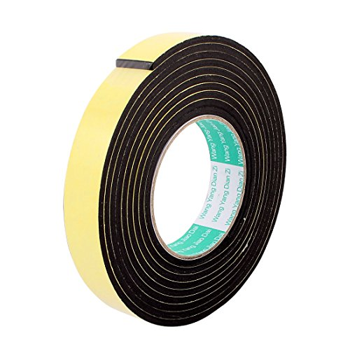 Uxcell a16070100ux0591 25mmx4mm Single Sided Sponge Tape Adhesive Sticker Foam Glue Strip Sealing 3 Meters 10 (Pack of 1)