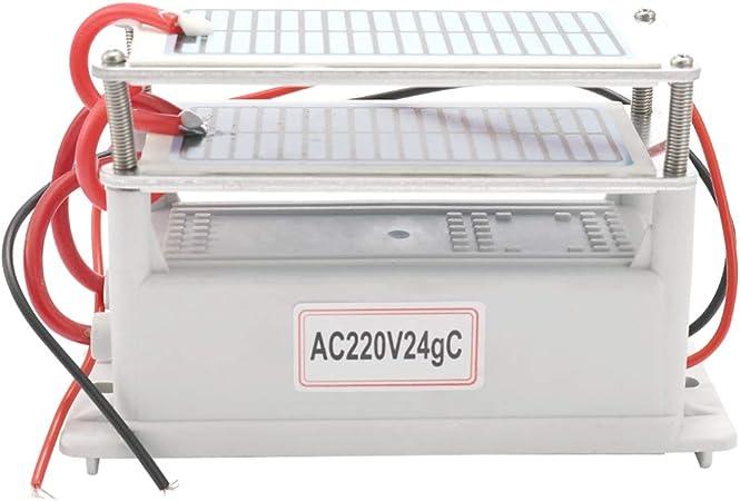 Port/átil Doble Integrado Larga Vida /útil Placa Ozonizador Purificador KKmoon 20g Generador de Ozono de Cer/ámica