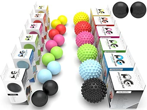 Physix Gear Sport Lacrosse Kugeln & Spiky Massage Ball Roller ...