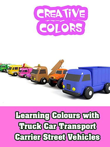 (Learning Colours with Truck Car Transport Carrier Street Vehicles)