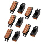 uxcell 10Pcs 3 Position 6P DPDT Micro Miniature PCB Slide Switch Latching Toggle Switch