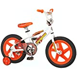 Mongoose Boy's Showtime 16-Inch Bicycle, White/Orange