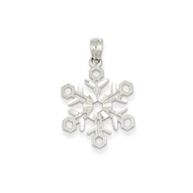 Amazon 14k gold white gold snowflake pendant 098 in x 063 in 14k gold white gold snowflake pendant 098 in x 063 in aloadofball Image collections