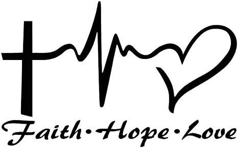 Vektenxi Jesus Hoffnung Liebe Glaube Gebet Vinyl Auto Aufkleber Aufkleber Auto Dekoration Dauerhaft Und Nützlich Küche Haushalt