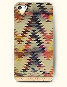 OOFIT Aztec Indian Chevron Zigzag Native American Pattern Hard Case for Apple iPhone 5 5S ( iPhone 5C Excluded ) ( Retro Fashion Ethic Chevron Pattern )