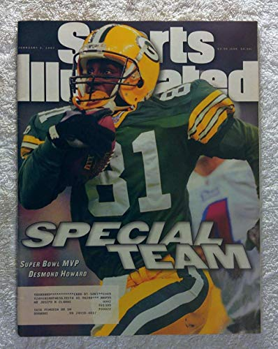 (Desmond Howard - Green Bay Packers - Super Bowl XXXI Champions! - Sports Illustrated - February 3, 1997 - New England Patriots - SI)