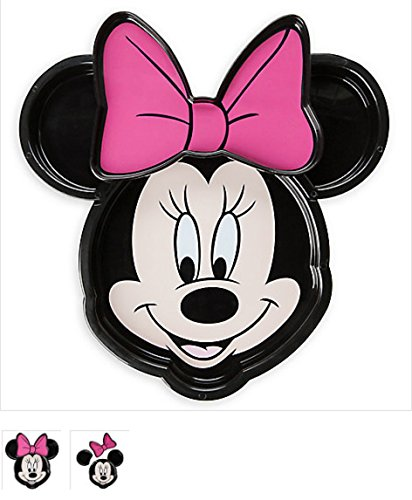 Minnie Mouse Face Clip Plate Meal Time Magic Collection 9' Shaped Dinner Plates