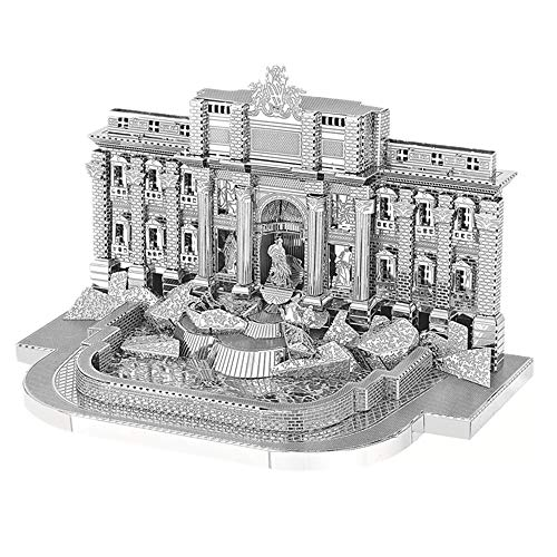 3D Metal Assembly Model, 1:250 Artificial Simulation Fontana Di Trevi Stainless Steel Puzzle Toy (4.3