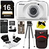 Nikon Coolpix W100Camera (White), 16GB SD, Battery/Charger, Strap & Accessories