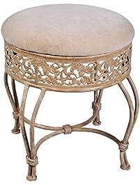 hillsdale villa iii vanity stool antique beige