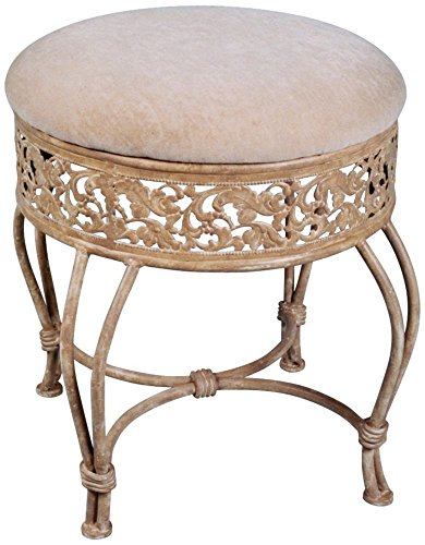 Hillsdale Villa III Vanity Stool, Antique Beige (Vanity Benches And Stools)