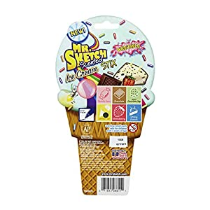 Mr. Sketch Stix Washable Scented Watercolor Markers, Fine-Tip, Set of 6, Ice Cream Colors (1924259)